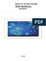 English Manual for Tablet Titan 7074me.v1.0