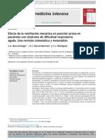 2015 Efecto de La Ventilación Mecánica en Posición Prona en Pacientes Con Síndrome de Dificultad Respiratoria Aguda. Una Revisión Sistemática y Metanálisis