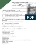 Evaluación Lenguaje y Comunicación La Casa Del Ahorcado Forma A