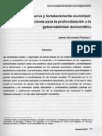 Desarrollo Gobierno y Fortalecimiento Municipal -JAP
