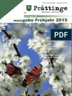Tuxer Prattinge - Ausgabe Frühjahr 2015