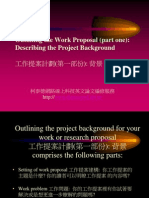 Outlining the Work Proposal (part one)