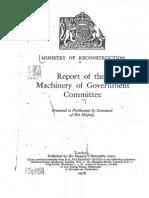 Haldane Committee Report