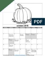Oct 2015 Calendar