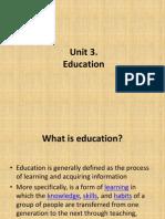 Unit 3 - Education - PPS