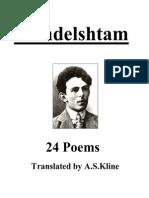 Osip Mandelstam  14 Poems