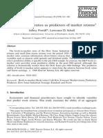Book-To-market Ratios as Predictors of Market Returns