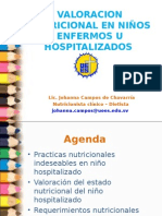 VALORACION NUTRICIONAL EN NIÑOS ENFERMOS U HOSPITALIZADOS #1.ppt