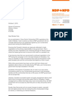 Mulcair's Letter to Ed Fast