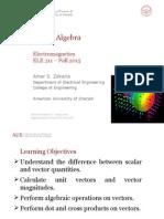 1 Vector Algebra