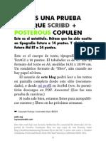 Prueba Scribd + Posterous