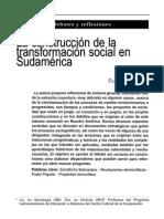 la construcción de la transformación social en Sudamérica. publicado en Realidad Economica 290 Paula Klachko