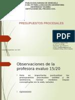 Mapa Conceptual Presupuestos Procesales.