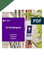 Flow Table Management
