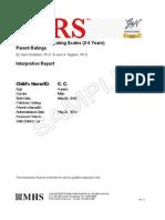 ASRS Interpretive Report Parent 2 5 Years SAMPLE