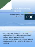 High Altitude Pulmonary Edema