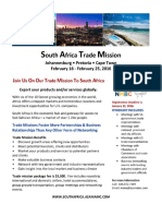 South Africa Trade Mission Overview and Itinerary
