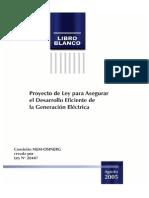 Osinergmin 2005 Libro Blanco - Proyecto de Ley Para Asegurar El Desarrollo Eficiente de Generación Eléctrica