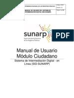Manual de Usuario - Ciudadano