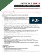 resume pmarta 1