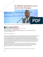 AN Analysis of UNHRC Resolution on Sri Lanka; Reasons for the Changes.odt