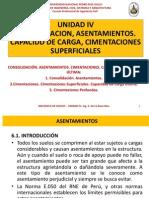 Unidaad IV Cimentaciones. Consolidacion. Capacidad Ultima Ucv