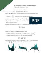 Cálculo II - Lista 02