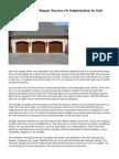 Find Garage Door Repair Service Or Substitution In Salt Lake City
