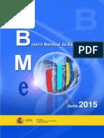 Boletin Mensual de Estadistica 2015-06