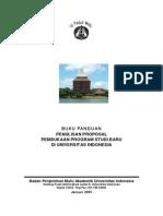 Buku Panduan Penulisan Proposal Pembukaan Prodi Baru Di UI