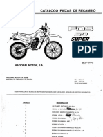 Derby FDS Parts List