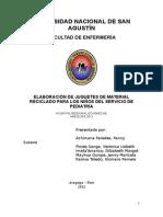 ELABORACIÓN DE JUGUETES DE MATERIAL RECICLADO PARA LOS NIÑOS DEL SERVICIO DE PEDIATRÍA