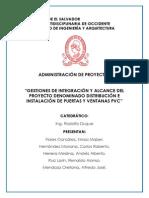 Puertas y Ventanas PVC (Integracion y Alcance)