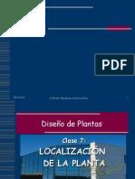 Unidad 5.0. Localización de La Planta