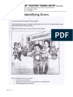 Common Error - Essay PT3 2015