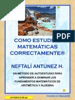 Como Aprender a Estudiar Matematicas