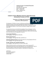 Analysis of New Pharmacy Services and Unnecessary Medications Sections of SOM