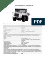 TR60 Especificaciones Tecnicas