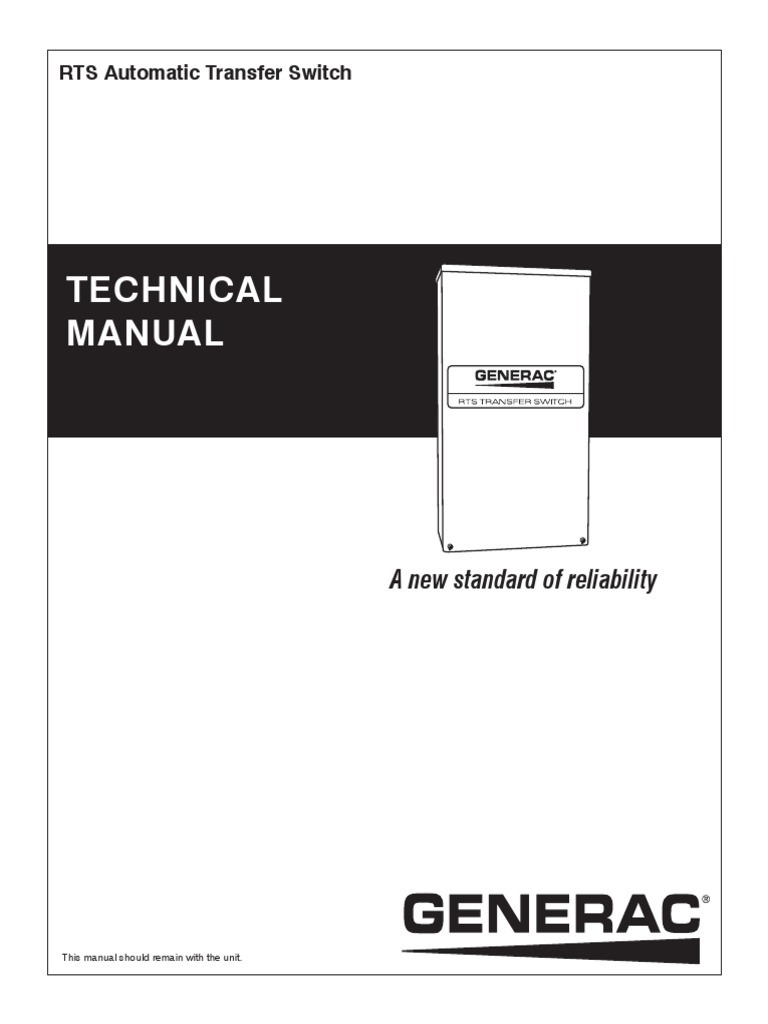 RTS Automatic Transfer Switch _ Technical Manual _ GENERAC