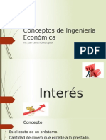Conceptos de Ingeniería Económica