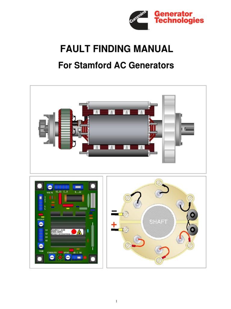 [DVZP_7254]   Fault Finding Manual for Stamford AC Generators _ July 2009 _ CUMMINS  Generator Technologies.pdf | Capacitor | Diode | Wiring Diagram Stamford Generator |  | Scribd