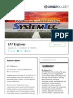 SAP Engineer Jobs in Columbia, SC - Systemtec, Inc