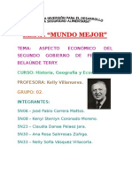 Aspecto Económico Del Segundo Gobierno de Fernando Belaúnde Terry