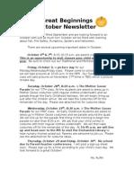 October News Letter