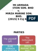 Bumi Armada Navigation Sdn v. Mirza Marine