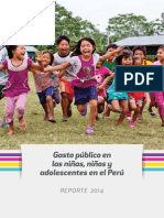 GastoPublico en Ninos Ninas Adolescentes en Peru 2014
