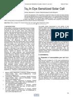 Use of Cu c Tio2 in Dye Sensitized Solar Cell