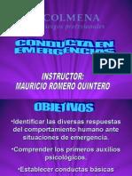 Conductas en Emergencias