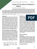 Ecological Distribution of the Genus Crotalaria in Nigeria