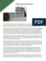 Common Problems With Garage Door Openers